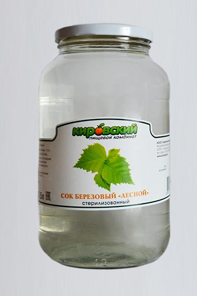 Сок берёзовый «Лесной» (Без сахара)